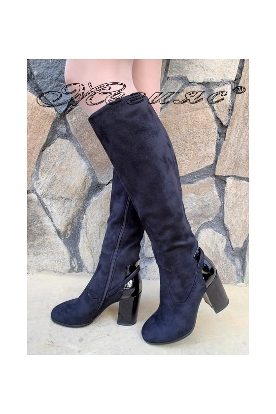 Lady boots Christine 20W18-335-1 black suede