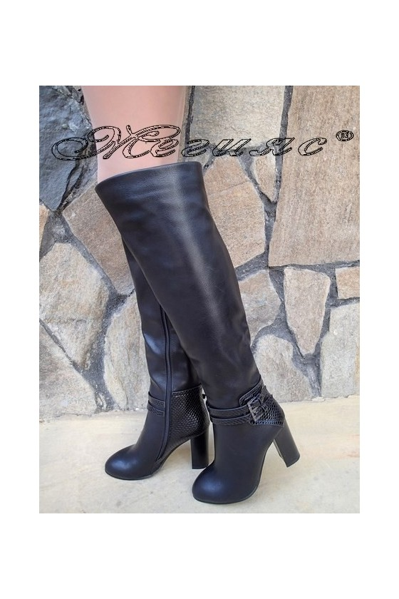 Lady boots Christine 20W18-304 black pu