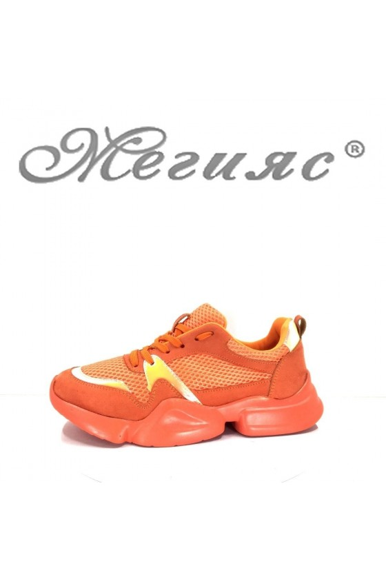 5033 Lady sport shoes orange pu