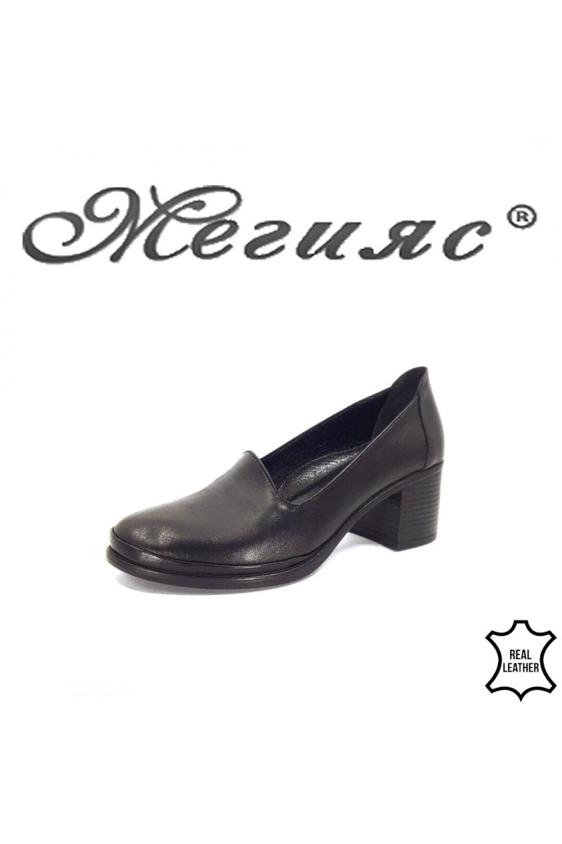 05-20 Lady elegant shoes black leather