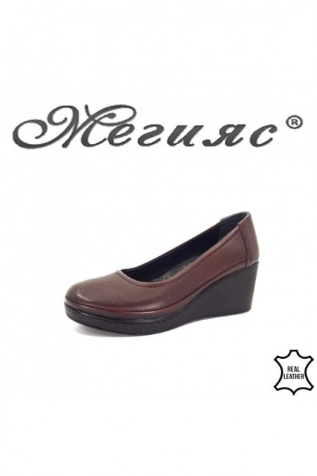 2300 Lady platform shoes wine pu
