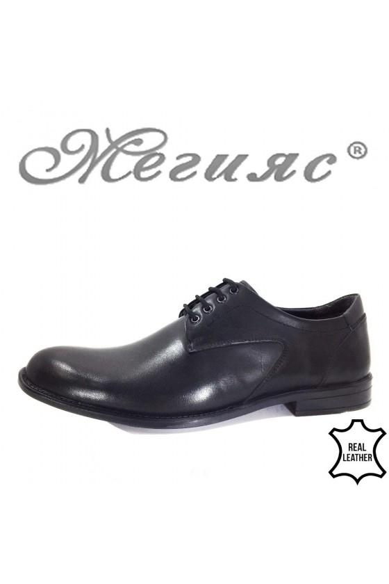 7703 XXL Мъжки обувки гигант черни от естествена кожа