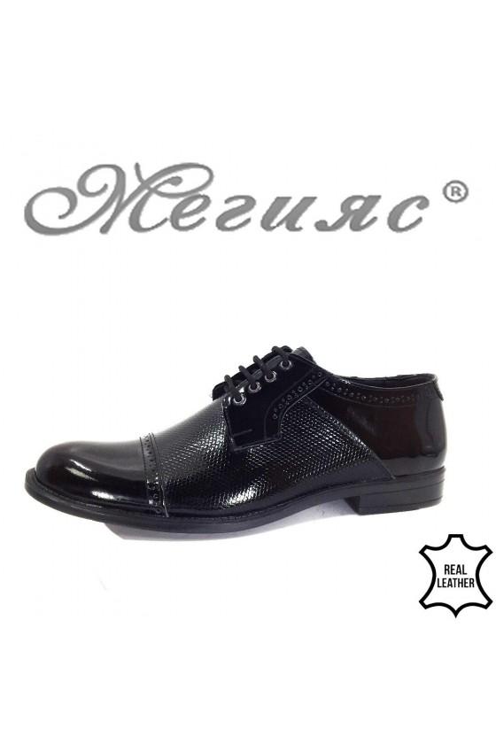 7703 XXL Мъжки обувки гигант черни лак