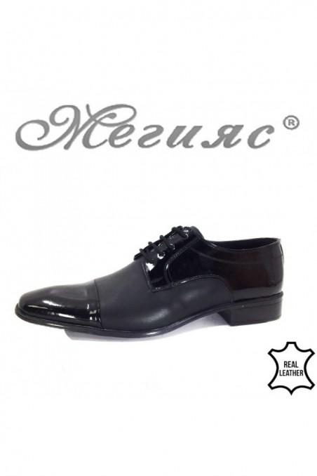 7700 XXL Men's shoes black leather
