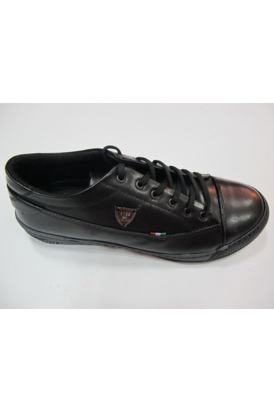 Мъжки обувки Rogger208черни естествена кожа