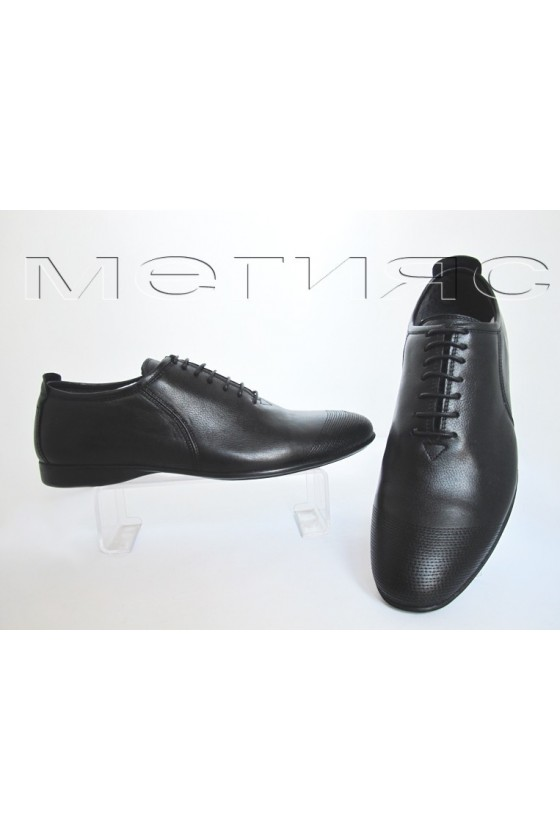 man shoes MET-3030black estestvena koja