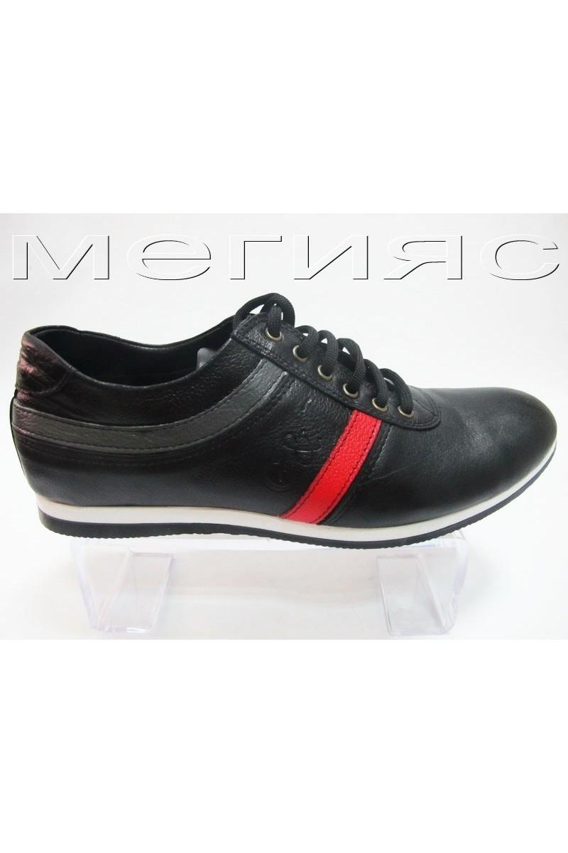 Мъжки обувки 950 черни от естествена кожа