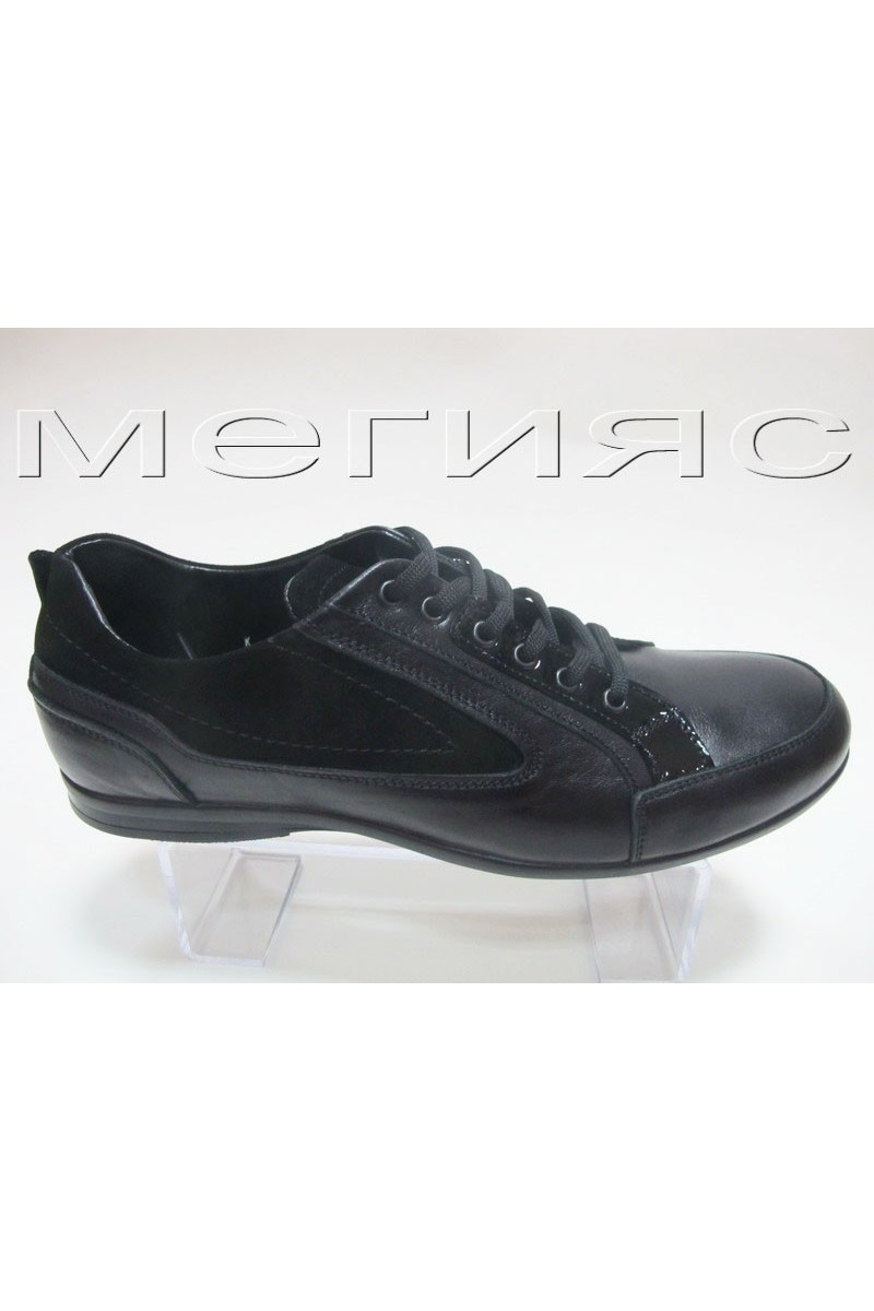 Мъжки обувки Фантазия 11303 черни естествена кожа