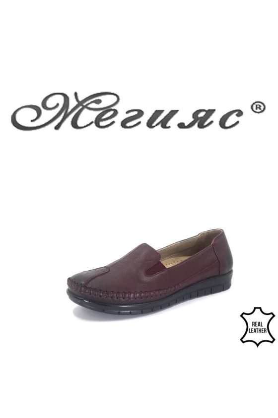 134  Women shoes wine leather