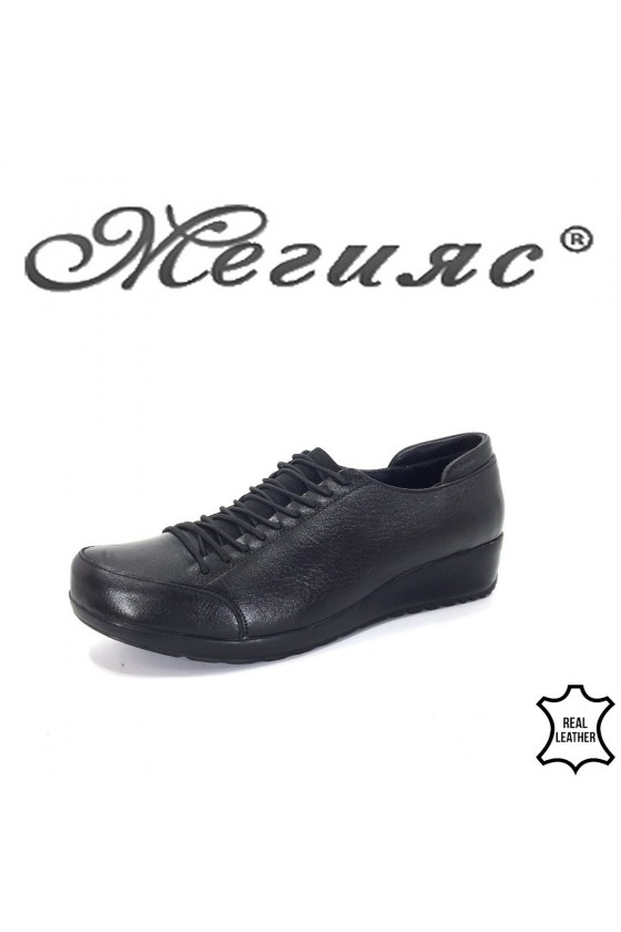 1004 Women shoes black leather