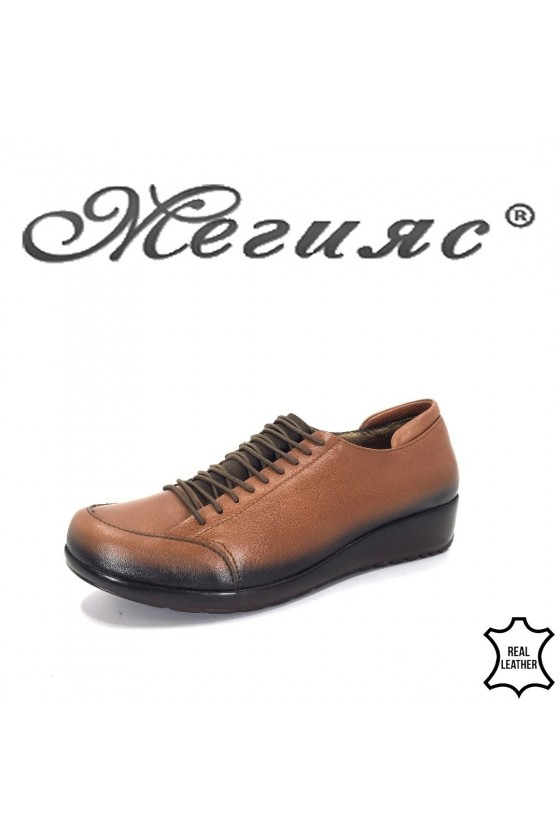 1004 Women shoes taba leather