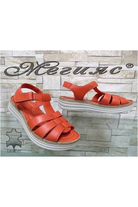 8606 Lady sandals coral leather