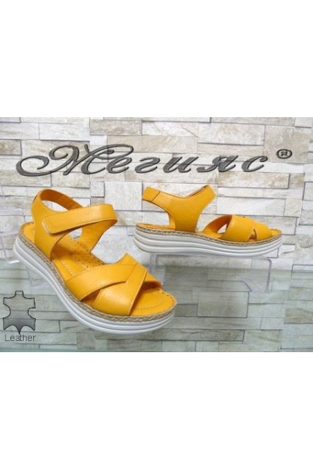 8610 Lady sandals yellow leather