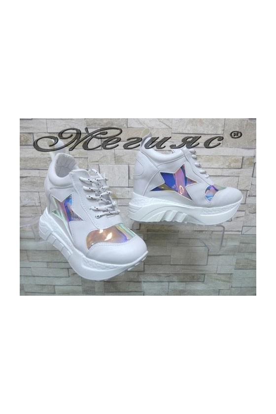 005-x Women sport shoes white pu