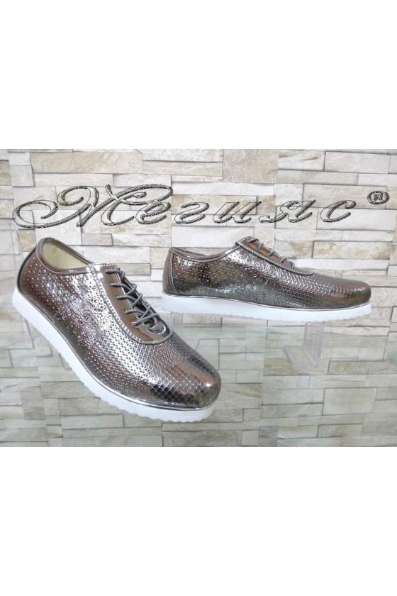 Lady shoes 0020 dark grey pu