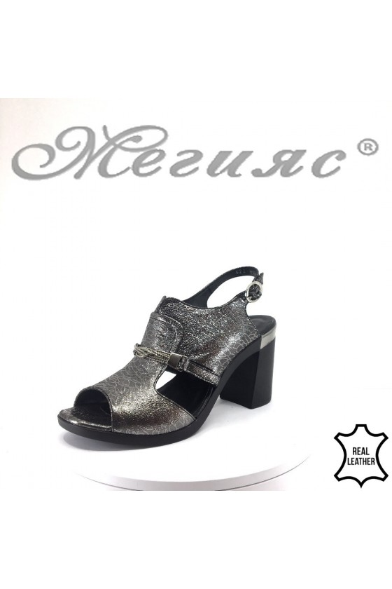Women sandals 522-862 grafit leather