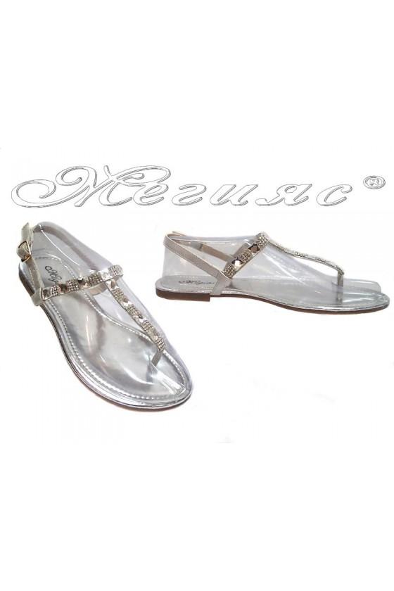 Дамски сандали Grace 114-7 сребърни