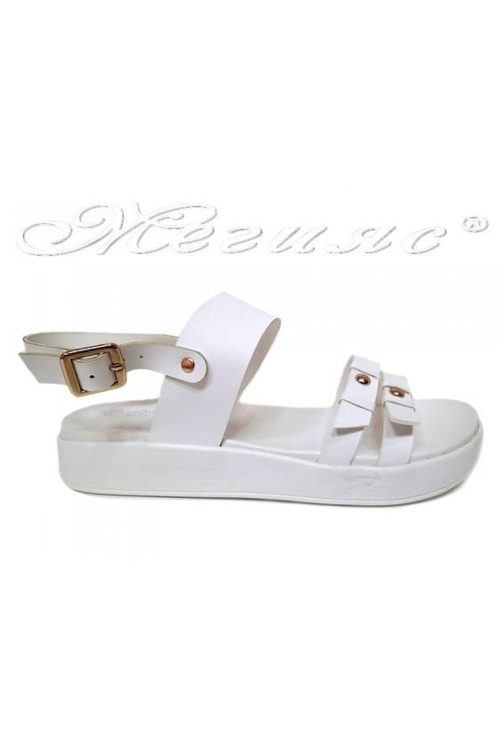 Women sandals LINDA 155425 casual white pu