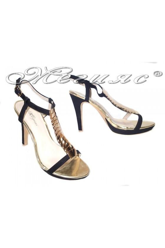 Дамски сандали Leo 114-475 черни