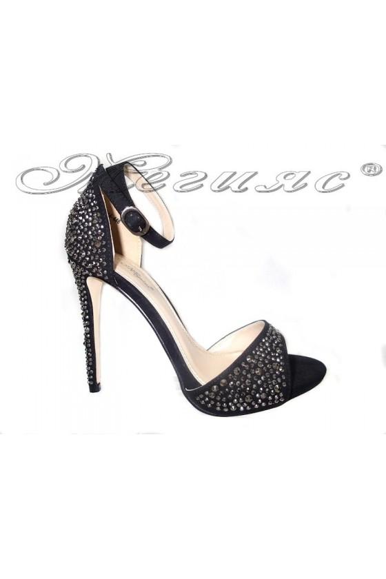 Sandals 114-446 black suede