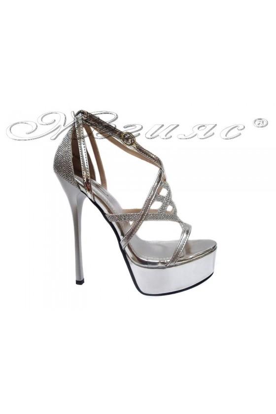Дамски сандали WEN 114-432 сребърни
