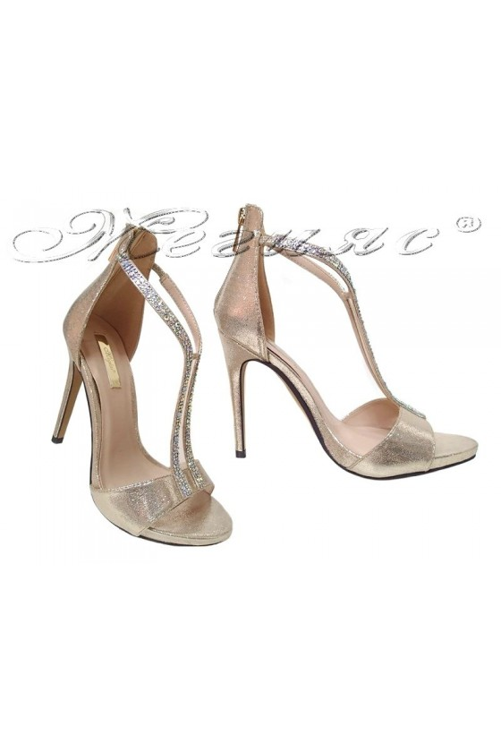Lady shoes 2016-236 gold