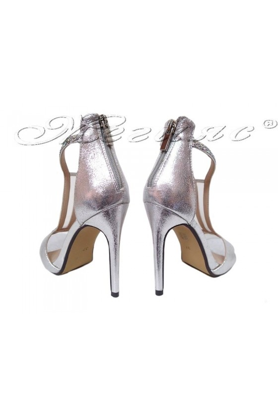 Дамски елегантни сандали JENIFFER 20S16-236 сребристи