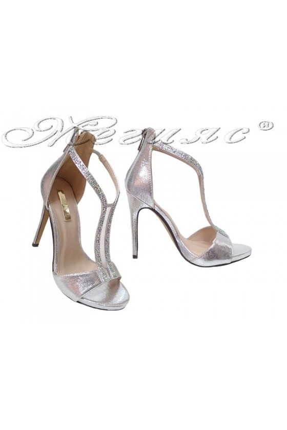 Lady shoes 2016-236 silver