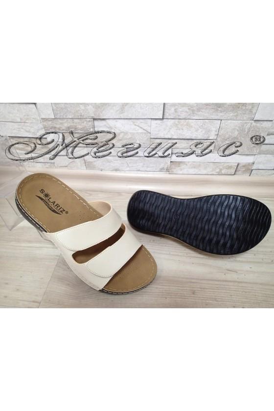 Men's sandals 1560 beige pu