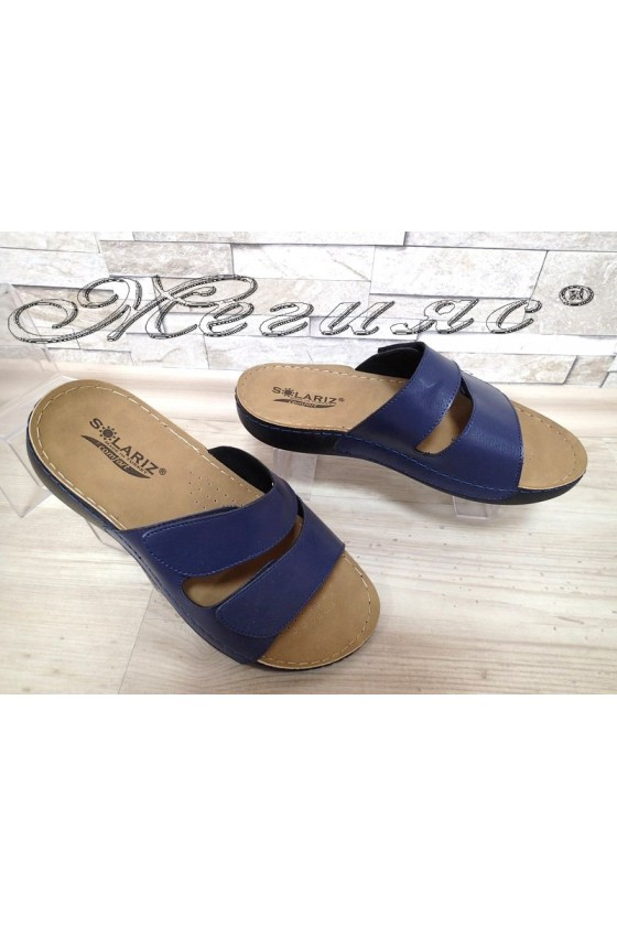 Men's sandals 1560 blue pu