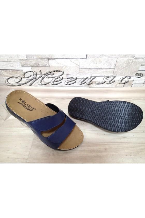Men's sandals 1560 blue pu