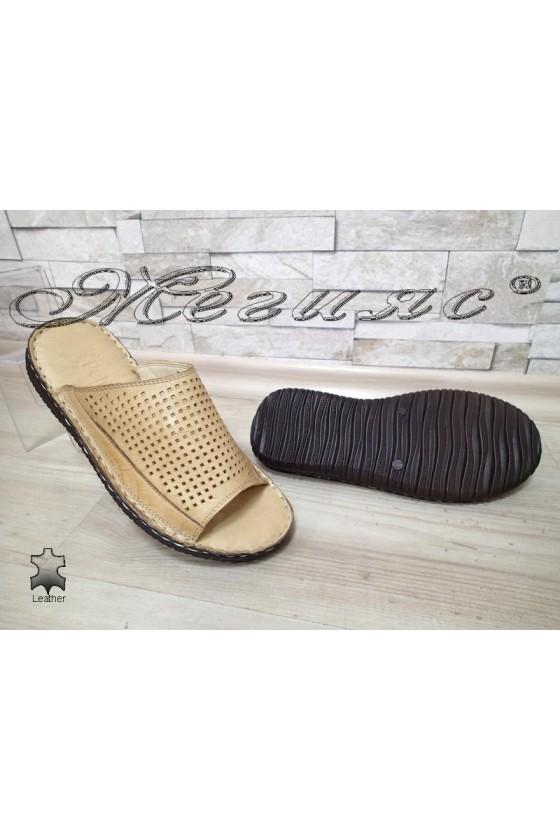 Men's slippers 1576 beige
