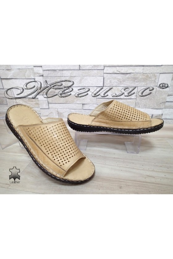Men's slippers 1576 beige