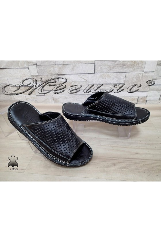 Men's slippers 1576 black