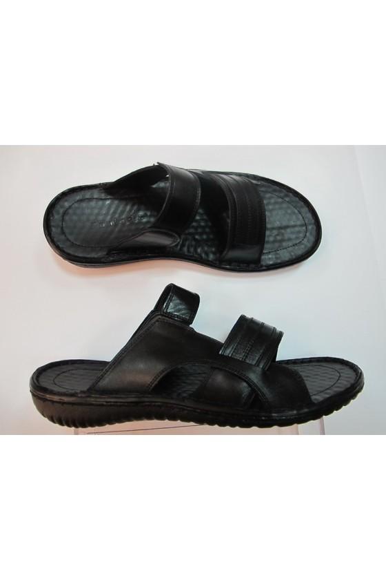 Мъжки сандали T-33 черни от естествена кожа