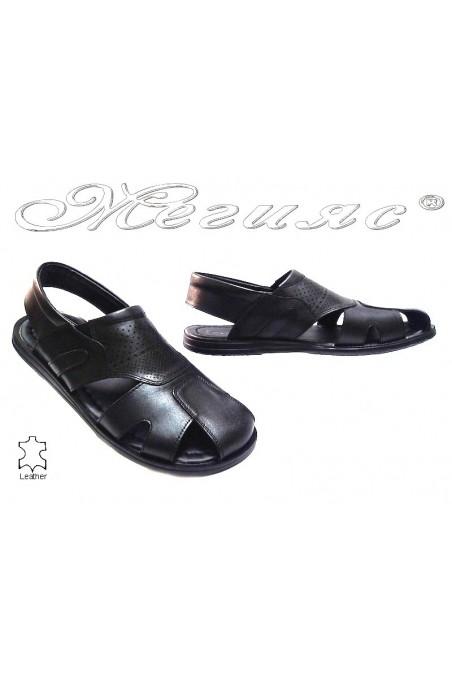 Мъжки сандали Фантазия Т-6 черни естествена кожа