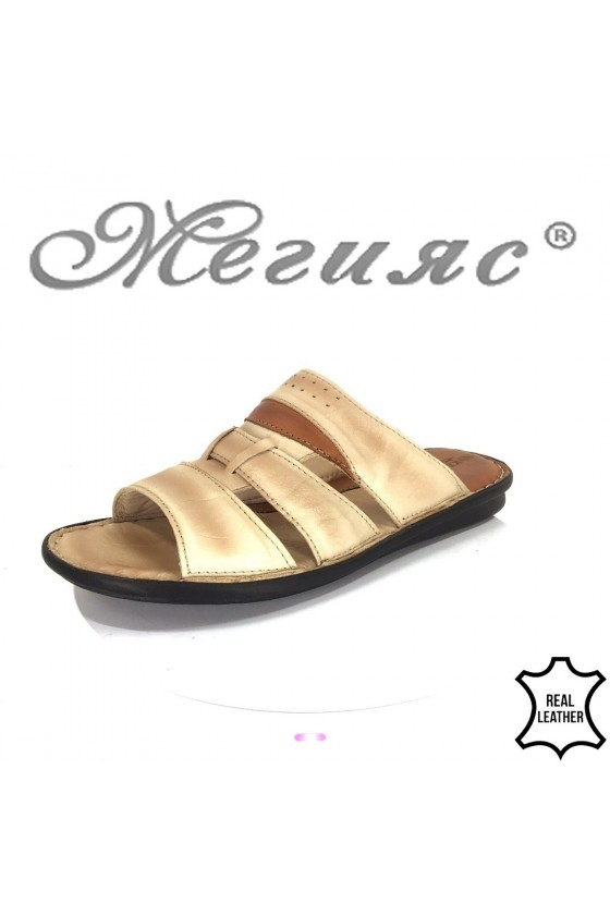 Men's sandals 282-81 beige leather