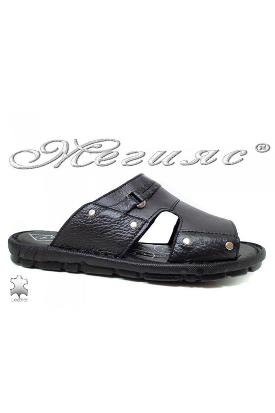 Men's sandals 050 black leather