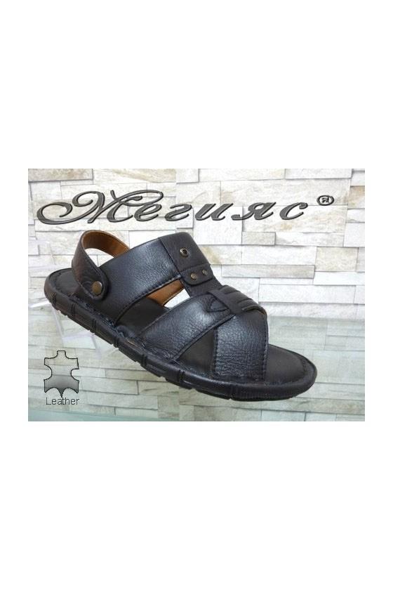1411 Men's sandals black leather