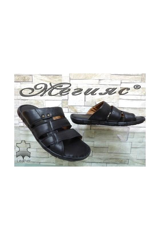 1925-1 Men's sandals black leather