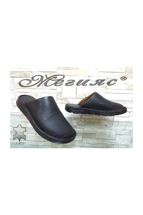 1425 Men's sandals black leather