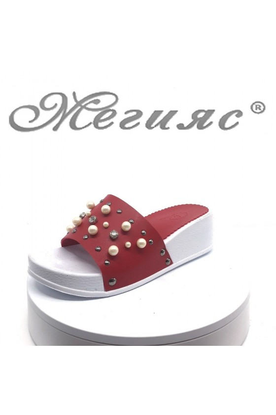 Women sandals 100 red pu