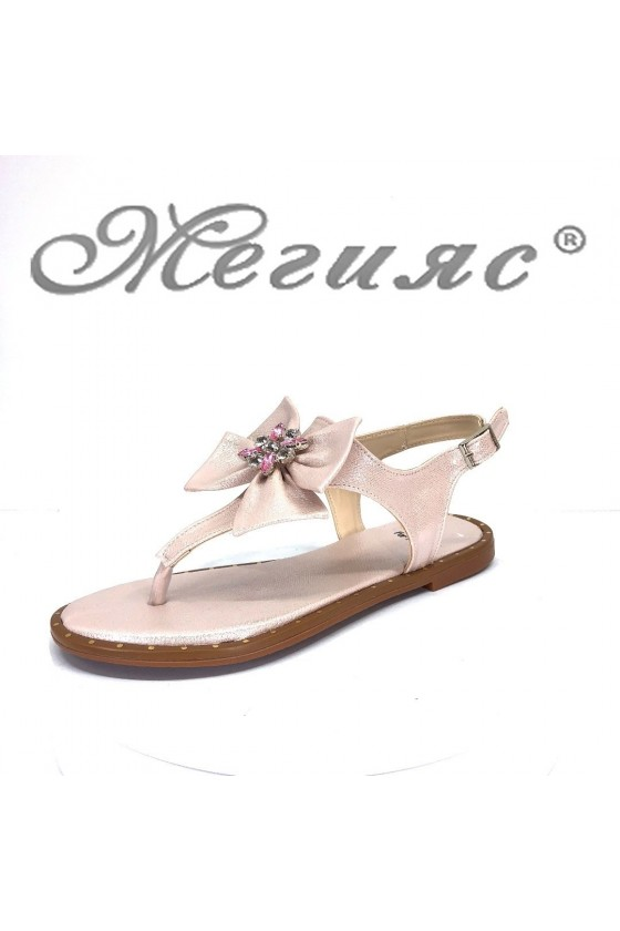 Дамски сандали 165 равни от еко кожа