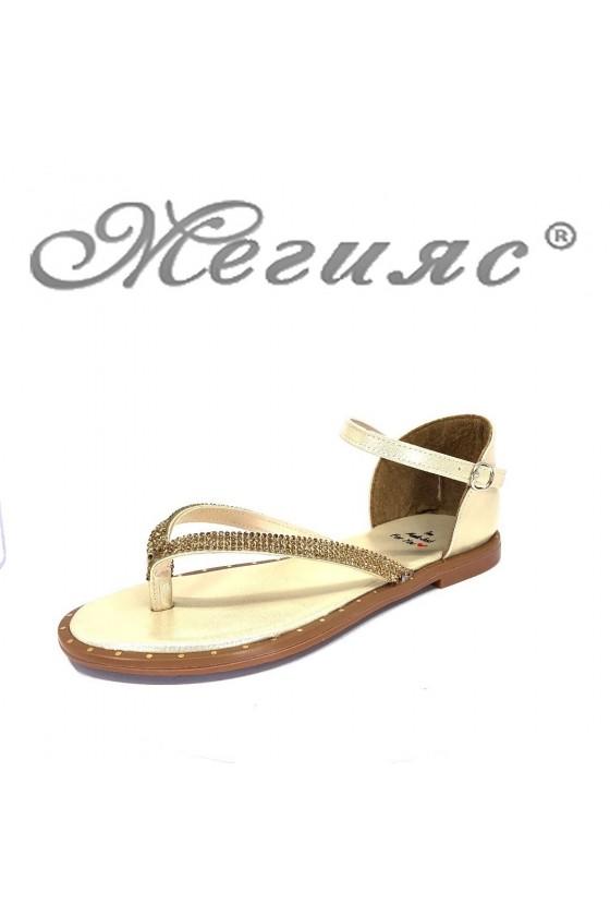 Дамски сандали 167 равни от еко кожа