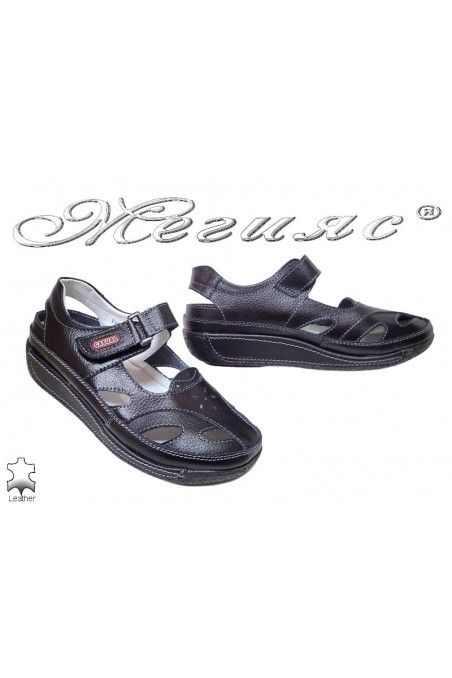 Lady shoes 20S16-151 black leather