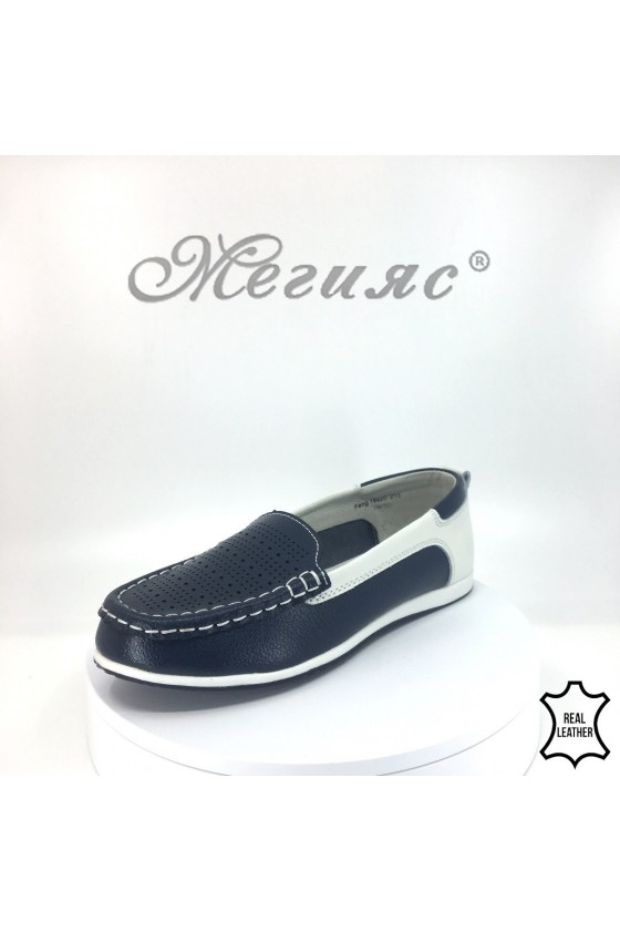 Lady shoes 18s20-215 navy/white leather
