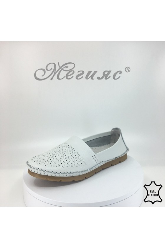 Lady shoes 18s20-217 white leather