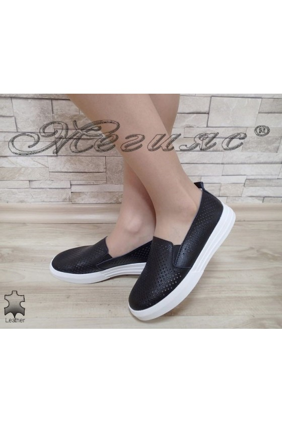 Lady shoes S1720-259 black leather