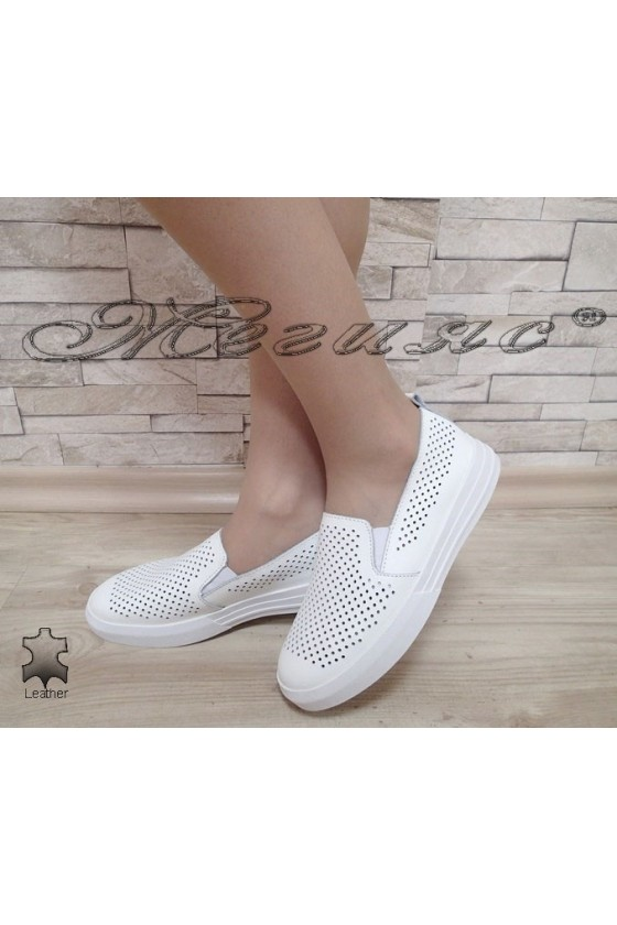 Lady shoes S1720-259 white leather