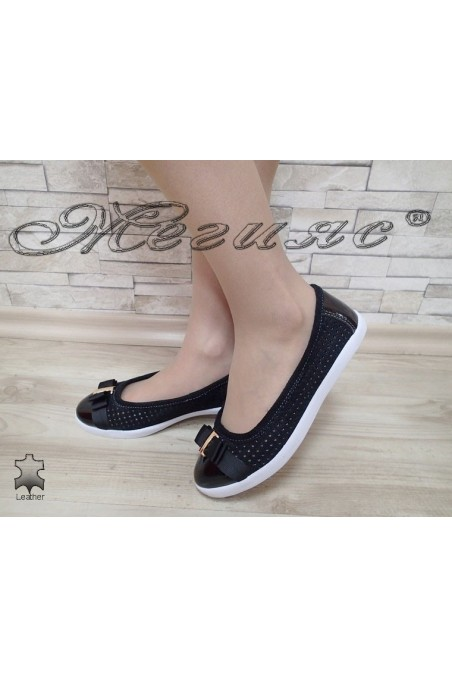 Lady shoes S1720-261 black leather